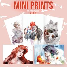"""🎨 It's Not too Late to show your Love by Giving some amazing Gift Cards to your dearest ones🎨 Mini Print Collection by Agnes Cecile ! *** SET OF 5 MINI PRINTS *** 🖼️5 Mini Prints 💑 5.5 x 8.5"""" Each 💖 Matt Finish Coated Paper on Artwork side 💗Exclusive Release by @eyesonwalls"""