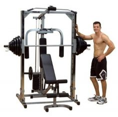 Body Solid PSM1442XS - Smith Machine Complete Home Fitness Equipment | Sale Price: $1,203.00