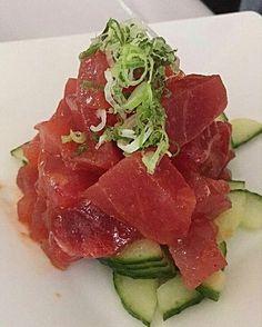 Tuna tataki submitted by @nikkislays. #sushi #sashimi #tuna #seafood #goodeats #healthy #fish #raw #Japanese #foodphotography #wasabi #ginger #tataki by thesushigallery