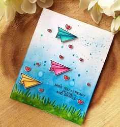 """238 Likes, 16 Comments - Chitra (@chitra01) on Instagram: """"Followed #lawnfawnatics color inspiration to create this card and also used my super fun new stamps…"""""""