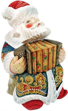 G. Debrekht Accordian Sant a Figurine, 6-Inch Tall, Limited Editon of 1,200, Hand-Painted -- Details can be found by clicking on the image. (This is an affiliate link) #ModernHomeDecor