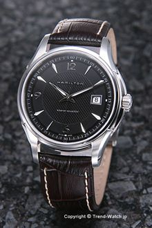 HAMILTON / Hamilton Watch Jazzmaster Viewmatic (jazzmaster viewmatic) black / ダークブラウンレザース strap H32515535 02P28oct13