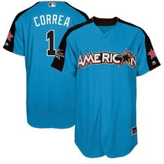 Astros #1 Carlos Correa Blue 2017 All-Star American League Stitched MLB Jersey