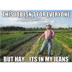 This job isn't for everyone but hay - it's in my jeans