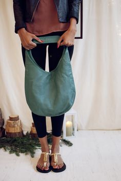 The Sseko Jade Hobo Bag. Handmade in Ethiopia and supporting the education of women! Can it get any better?