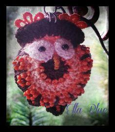 """Crochet owl """"Oliver Orange"""""""