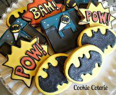 Items similar to Batman Cookies Decorated Sugar Cookies Birthday Party Cookie Favors One Dozen on Etsy Sweet Cookies, Iced Cookies, Cute Cookies, Easter Cookies, Birthday Cookies, Cookies Et Biscuits, Sugar Cookies, Logo Cookies, Baby Cookies
