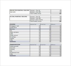 Simple Monthly Budget Report Template  Basic Budget Template
