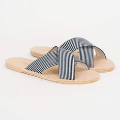 WREN denim stripe slide