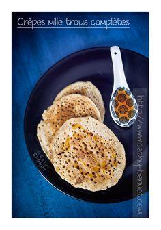 Crêpes véganes : crêpes aux 1000 trous ou baghrirs, sans lait ni oeuf #baghrir #crêpes #végane #semoule #épeautre