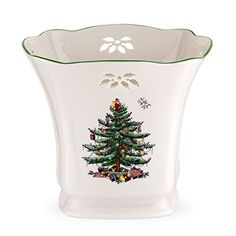 Spode Christmas Tree Pierced Square Pointsettia Planter ** For more information, visit image link.