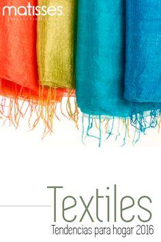 Poco a poco se van dando conocer las tendencias que vienen en textiles en 2016 para el hogar. Color, estilo y mucha expresión en telas. Mira aquí algunos ejemplos,