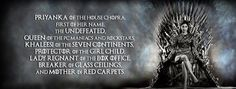 Game of Thrones: Priyanka Chopra as Daenerys Targaryen! What would that be like? Here's the answer… #FansnStars