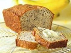 Cheating Banana Nut Bread - Yellow cake mix, ripe banana's, nuts and eggs that is all!!