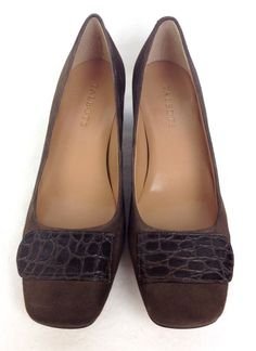 Talbots Shoes Womens 8 Brown Leather Heels #Talbots #PumpsClassics #WeartoWork