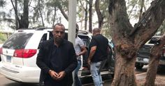 Agentes del Departamento de Inteligencia en compañía de fiscales de Santiago custodiaron al arrestado desde la Capital a Santiago. Por Jhonny Trinidad...