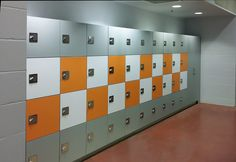HAMILTON lockers outfitted with digital locks in a university setting provide secure storage for multiple users.