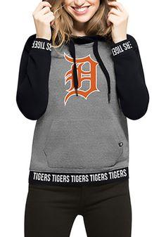 '47 Detroit Tigers Womens Grey Encore Revolve Hoodie