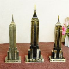 Empire State Building Bronze Craft Tower (2 sizes) FREE SHIPPING worldwide 🌎 Money back guarantee ✅ 39% DISCOUNT!!!