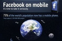Mobile - Consider this: Three-quarters of the world's population has a mobile phone, and within the next two years the number of mobile subscriptions will outnumber the number of people. Mobile Marketing, Social Media Marketing, Digital Marketing, Compare Cell Phone Plans, Social Media Landscape, About Facebook, All Mobile Phones, Go Online, Customer Experience