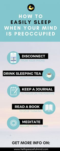 Do you have trouble sleeping? Follow these tips to help you calm your mind and fall asleep more easily! Click on the image to read the full article.