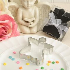 Delighful Angel Shaped Tin Metal Cookie Cutters  #angel #cookiecutter #angelpartyfavors