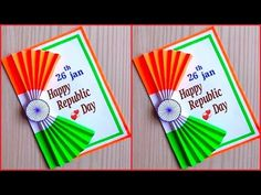 Republic day card making / DIY republic day greeting card / Republic day greeting card easy Independence Day Activities, Independence Day Card, Independence Day Decoration, Independence Day Wallpaper, India Independence, Paper Flowers Craft, Paper Crafts Origami, Painting Flowers, Art N Craft