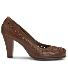 BENCHANTE522M85 Color: Mid Brown Combo, Size: 8.5 Available in Multiple Colors! Benchanted Pump by A2 by Aerosoles Features: -Women's Benchanted Pump. -Available in whole and half sizes. -Available in Medium width only. -The sole is constructed from rubber. -The upper is constructed from manmade patent. -Part of the Benchanted collection. -Strobel construction technology. -Manmade suede lining. -S ...