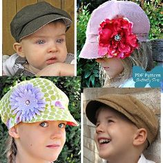 Download Reversible Newsie Hat - Boys & Girls - Sizes 3mths-Pre-teen Sewing Pattern | Most Popular | YouCanMakeThis.com