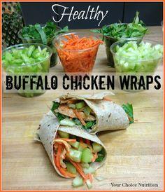 Healthy Buffalo Chicken Wraps
