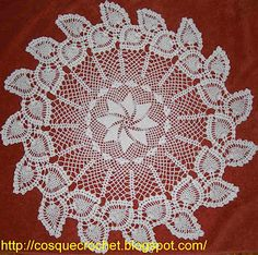 Pinwheel doily with diagram ♥ and other beautiful doily designs