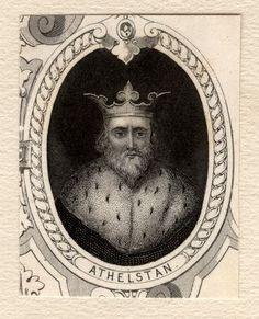Æthelstan (vers 895 – 27 octobre 939) - Maison de Wessex (927-1013) -  Fils d'Édouard l'Ancien. Sacré le 4 septembre 925 à Kingston upon Thames. Premier roi du Wessex à prendre le titre de « roi des Anglais » (rex Anglorum) après la conquête de la Northumbrie en 927.