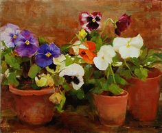 artnet Galleries: The Color of Pansies by Kathy Anderson from Susan Powell Fine Art