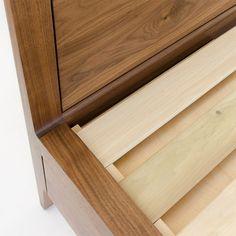 Walnut Storage Bed Frame - Modern Platform Bed No. 2 - Modern Solid Wood Storage Bed Frame - Bed With Drawers - Storage Drawers King Size Platform Bed, Modern Platform Bed, Bed Platform, Modern Wood Bed, Bed Frame With Storage, Bed With Drawers, Wood Beds, Bed Plans, Mortise And Tenon