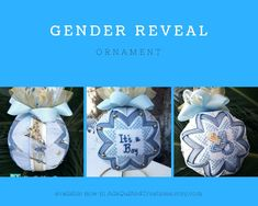 Make your baby's gender reveal extra special with this beautiful handmade quilted keepsake ornament! Amazing gift for a newborn baby boy or girl which could easily decorate the nursery. Etsy Handmade, Handmade Items, Handmade Gifts, Newborn Gifts, Baby Gifts, Online Deals, Online Shopping, Styrofoam Crafts, Quilted Christmas Ornaments