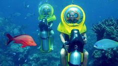 I heard that Mauritius and Sanya have underwater motor, not diving can sit, would like to try it!