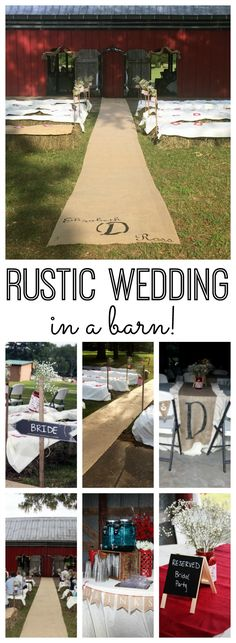 Great ideas for a rustic wedding in a barn! Links to tons of DIY projects for your wedding on a budget!