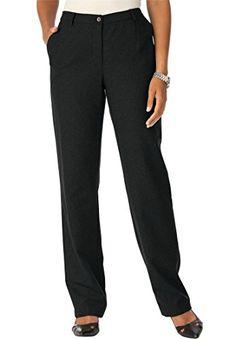 8859e10c8e0 Jessica London Women s Plus Size Petite Wool Pants With Pleat Front  Black