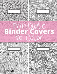 Free Printable Binder Covers to Color #howdoesshe #coloring #freeprintables #bindercovers #printables #backtoschool