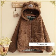 Buy 'Fairyland – Bear Accent Hood Fleece Jacket' with Free International Shipping at YesStyle.com. Browse and shop for thousands of Asian fashion items from China and more!