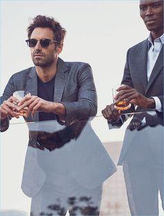 Leading models Josh Wald and Armando Cabral front J. Nick Wooster, Fashion Models, Mens Fashion, Summer Lookbook, Men's Wardrobe, Classic Man, Fashion Lookbook, Model Agency, Male Models