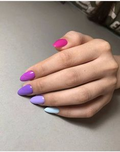 hansen chrome nail makeup pure chrome nail makeup brush nail designs airbrush makeup inc nail makeup makeup nail art nailart inc nail makeup nail makeup Gradient Nails, Cute Acrylic Nails, Purple Nails, Matte Nails, My Nails, Nail Pink, Orange Nail, Solid Color Nails, Nail Colors