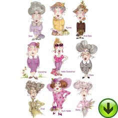 Grannies Embroidery Design Collection | DOWNLOAD