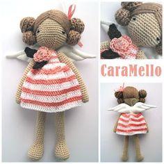 stripped dress doll