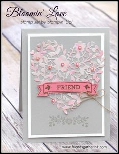 Valentine's Day Card using the Bloomin' Love stamp set by Stampin' Up!