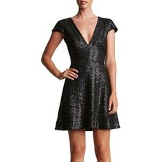 Women's Dress The Population Georgina Sequin Fit & Flare Dress
