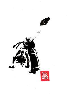 Encres : Capoeira – 462 [ #capoeira #watercolor #illustration]