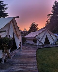 Lose yourself in ancient wilderness in one of BC's eco-lodges that are fully committed to conserving energy, the environment, and the cultural Wilderness Resort, Vancouver Island, Lodges, British Columbia, Conservation, Outdoor Gear, Travel Inspiration, Tent, Safari