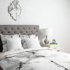Chelsea Victoria Marble Duvet Cover | DENY Designs Home Accessories