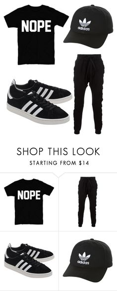 """Lazy Saturday"" by zeruiahvance ❤ liked on Polyvore featuring Blood Brother, adidas Originals, men's fashion and menswear"
